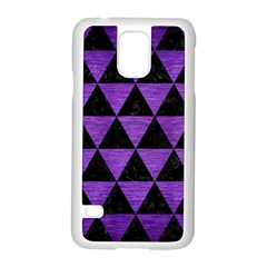 Triangle3 Black Marble & Purple Brushed Metal Samsung Galaxy S5 Case (white) by trendistuff