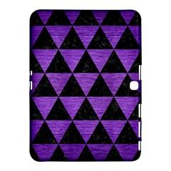 Triangle3 Black Marble & Purple Brushed Metal Samsung Galaxy Tab 4 (10 1 ) Hardshell Case  by trendistuff