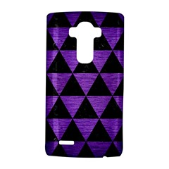 Triangle3 Black Marble & Purple Brushed Metal Lg G4 Hardshell Case by trendistuff