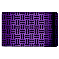 Woven1 Black Marble & Purple Brushed Metal Apple Ipad 2 Flip Case by trendistuff
