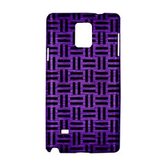Woven1 Black Marble & Purple Brushed Metal Samsung Galaxy Note 4 Hardshell Case