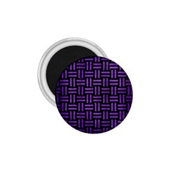 Woven1 Black Marble & Purple Brushed Metal (r) 1 75  Magnets by trendistuff