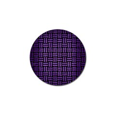 Woven1 Black Marble & Purple Brushed Metal (r) Golf Ball Marker (4 Pack) by trendistuff