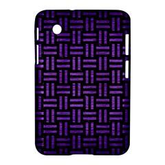 Woven1 Black Marble & Purple Brushed Metal (r) Samsung Galaxy Tab 2 (7 ) P3100 Hardshell Case  by trendistuff