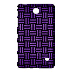 Woven1 Black Marble & Purple Brushed Metal (r) Samsung Galaxy Tab 4 (8 ) Hardshell Case  by trendistuff