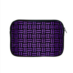 Woven1 Black Marble & Purple Brushed Metal (r) Apple Macbook Pro 15  Zipper Case