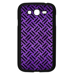 Woven2 Black Marble & Purple Brushed Metalwoven2 Black Marble & Purple Brushed Metal Samsung Galaxy Grand Duos I9082 Case (black) by trendistuff