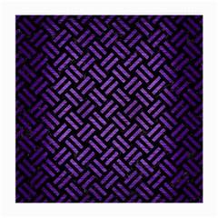 Woven2 Black Marble & Purple Brushed Metal (r) Medium Glasses Cloth by trendistuff