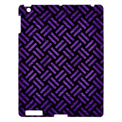 Woven2 Black Marble & Purple Brushed Metal (r) Apple Ipad 3/4 Hardshell Case by trendistuff