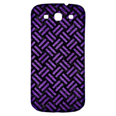 Woven2 Black Marble & Purple Brushed Metal (r) Samsung Galaxy S3 S Iii Classic Hardshell Back Case by trendistuff