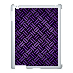 Woven2 Black Marble & Purple Brushed Metal (r) Apple Ipad 3/4 Case (white) by trendistuff