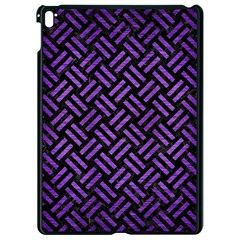 Woven2 Black Marble & Purple Brushed Metal (r) Apple Ipad Pro 9 7   Black Seamless Case by trendistuff