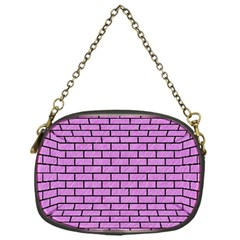 Brick1 Black Marble & Purple Colored Pencil Chain Purses (one Side)  by trendistuff