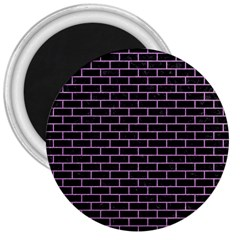 Brick1 Black Marble & Purple Colored Pencil (r) 3  Magnets by trendistuff