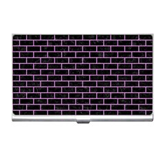 Brick1 Black Marble & Purple Colored Pencil (r) Business Card Holders