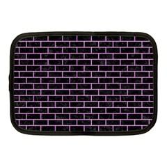 Brick1 Black Marble & Purple Colored Pencil (r) Netbook Case (medium)  by trendistuff