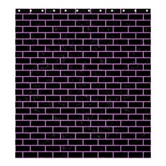 Brick1 Black Marble & Purple Colored Pencil (r) Shower Curtain 66  X 72  (large)  by trendistuff