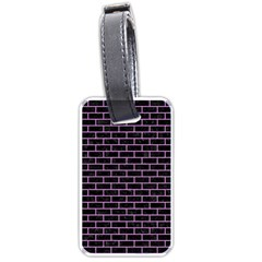 Brick1 Black Marble & Purple Colored Pencil (r) Luggage Tags (two Sides) by trendistuff