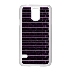 Brick1 Black Marble & Purple Colored Pencil (r) Samsung Galaxy S5 Case (white) by trendistuff