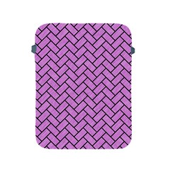 Brick2 Black Marble & Purple Colored Pencil Apple Ipad 2/3/4 Protective Soft Cases by trendistuff