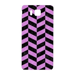Chevron1 Black Marble & Purple Colored Pencil Samsung Galaxy Alpha Hardshell Back Case by trendistuff