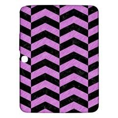 Chevron2 Black Marble & Purple Colored Pencil Samsung Galaxy Tab 3 (10 1 ) P5200 Hardshell Case  by trendistuff