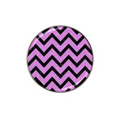Chevron9 Black Marble & Purple Colored Pencil Hat Clip Ball Marker (10 Pack) by trendistuff