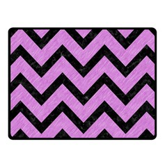 Chevron9 Black Marble & Purple Colored Pencil Fleece Blanket (small) by trendistuff