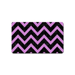 Chevron9 Black Marble & Purple Colored Pencil (r) Magnet (name Card) by trendistuff