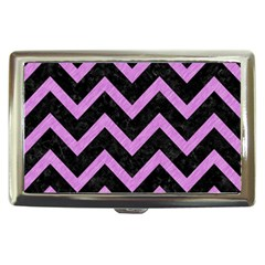 Chevron9 Black Marble & Purple Colored Pencil (r) Cigarette Money Cases by trendistuff