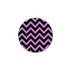 Chevron9 Black Marble & Purple Colored Pencil (r) Golf Ball Marker by trendistuff