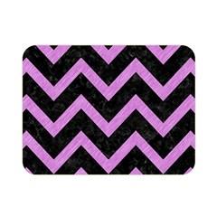 Chevron9 Black Marble & Purple Colored Pencil (r) Double Sided Flano Blanket (mini)  by trendistuff