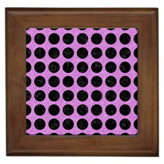 Circles1 Black Marble & Purple Colored Pencil Framed Tiles by trendistuff