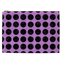 Circles1 Black Marble & Purple Colored Pencil Cosmetic Bag (xxl)  by trendistuff