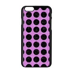 Circles1 Black Marble & Purple Colored Pencil Apple Iphone 6/6s Black Enamel Case by trendistuff