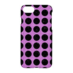 Circles1 Black Marble & Purple Colored Pencil Apple Iphone 7 Hardshell Case by trendistuff