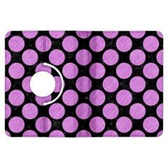 Circles2 Black Marble & Purple Colored Pencil (r) Kindle Fire Hdx Flip 360 Case by trendistuff