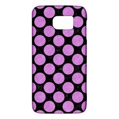 Circles2 Black Marble & Purple Colored Pencil (r) Galaxy S6