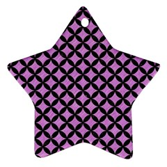 Circles3 Black Marble & Purple Colored Pencil Star Ornament (two Sides) by trendistuff