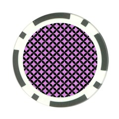 Circles3 Black Marble & Purple Colored Pencil Poker Chip Card Guard by trendistuff
