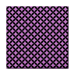 Circles3 Black Marble & Purple Colored Pencil Face Towel by trendistuff