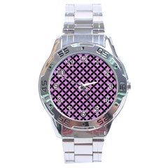 Circles3 Black Marble & Purple Colored Pencil Stainless Steel Analogue Watch by trendistuff