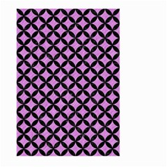 Circles3 Black Marble & Purple Colored Pencil Large Garden Flag (two Sides) by trendistuff