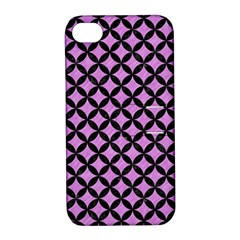 Circles3 Black Marble & Purple Colored Pencil Apple Iphone 4/4s Hardshell Case With Stand by trendistuff