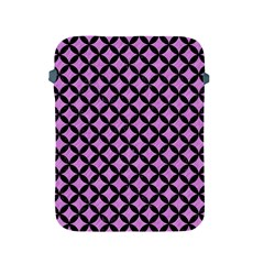 Circles3 Black Marble & Purple Colored Pencil Apple Ipad 2/3/4 Protective Soft Cases by trendistuff
