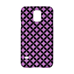 Circles3 Black Marble & Purple Colored Pencil Samsung Galaxy S5 Hardshell Case  by trendistuff