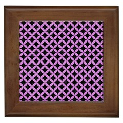 Circles3 Black Marble & Purple Colored Pencil (r) Framed Tiles by trendistuff