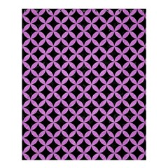 Circles3 Black Marble & Purple Colored Pencil (r) Shower Curtain 60  X 72  (medium)  by trendistuff