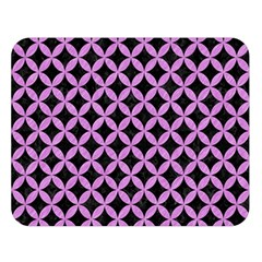 Circles3 Black Marble & Purple Colored Pencil (r) Double Sided Flano Blanket (large)  by trendistuff