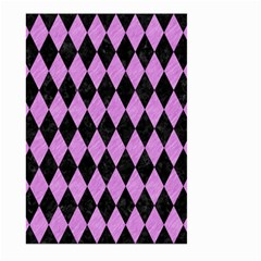 Diamond1 Black Marble & Purple Colored Pencil Large Garden Flag (two Sides) by trendistuff